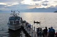 embarquement sur le lac Atlitan