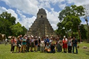 photo de groupe à Tikal, Guatemala