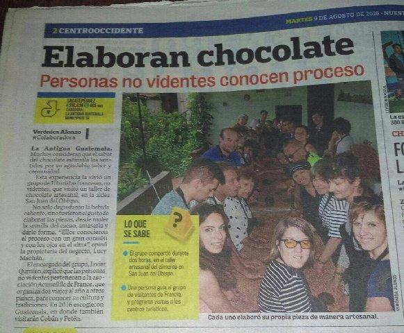 article du journal Nuestro Diario