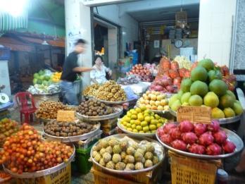 marché de fruits exotiques