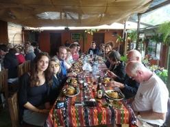 repas guatémaltèque de notre groupe