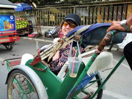 Marion en cyclo-pousse