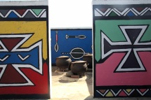 Mur coloré d'un village authentique