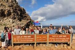 photo d'une partie du groupe au Cap Bonne Esperance