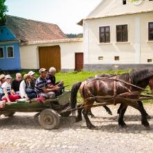 visite du village de Viscri en charrette