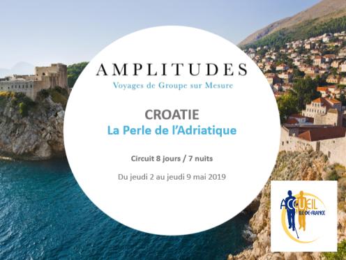 présentation voyage en croatie avec Amplitudes